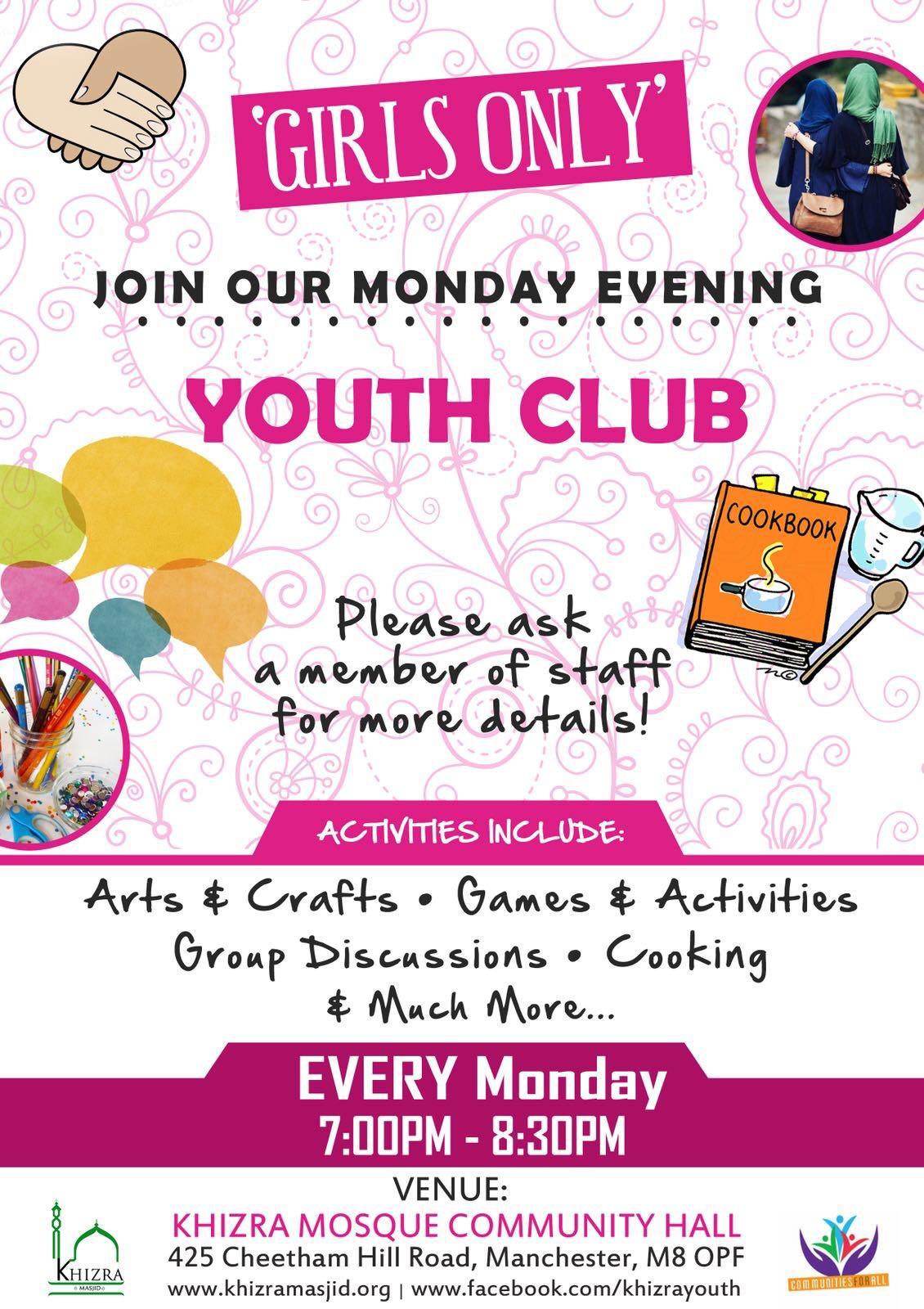 monday girls youth club